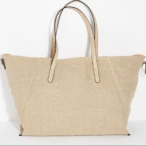 Free People Reversible Linen Tote in Natural